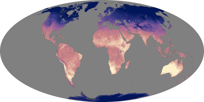 Global Map Land Surface Temperature Image 107