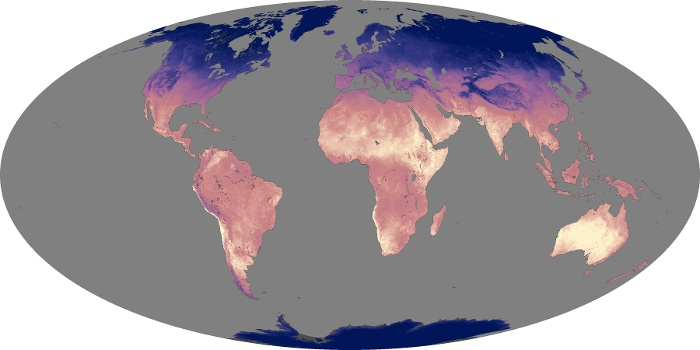 Global Map Land Surface Temperature Image 109