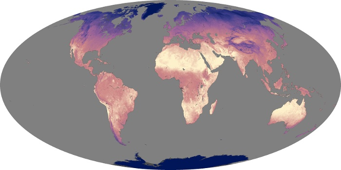 Global Map Land Surface Temperature Image 116