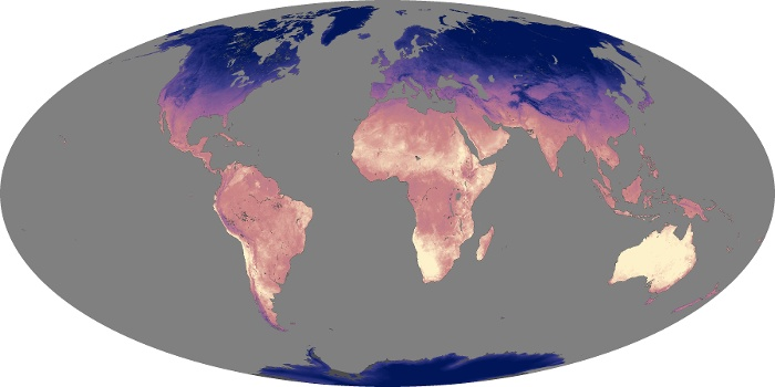Global Map Land Surface Temperature Image 118