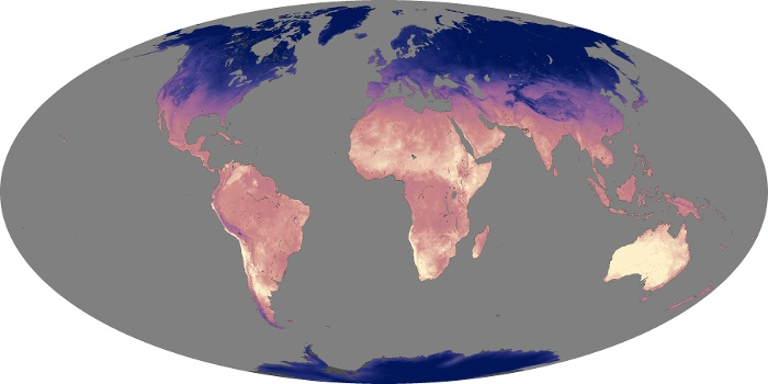 Global Map Land Surface Temperature Image 119