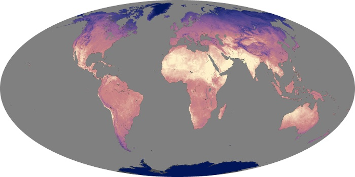 Global Map Land Surface Temperature Image 122