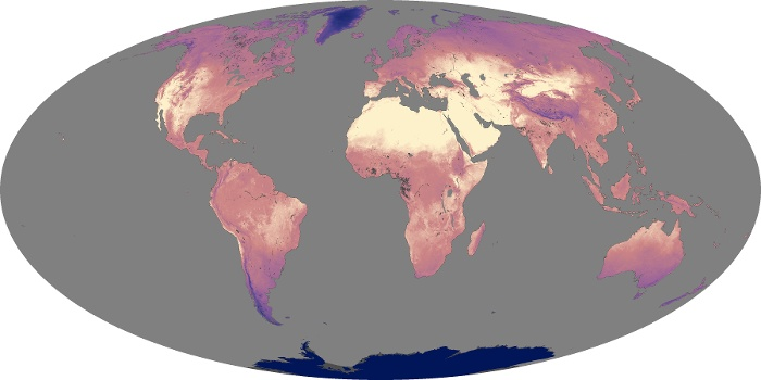 Global Map Land Surface Temperature Image 127
