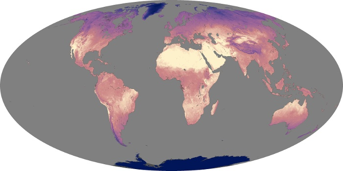Global Map Land Surface Temperature Image 128