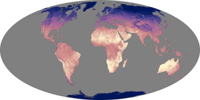Global Map Land Surface Temperature Image 130