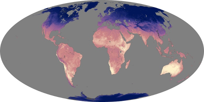 Global Map Land Surface Temperature Image 131