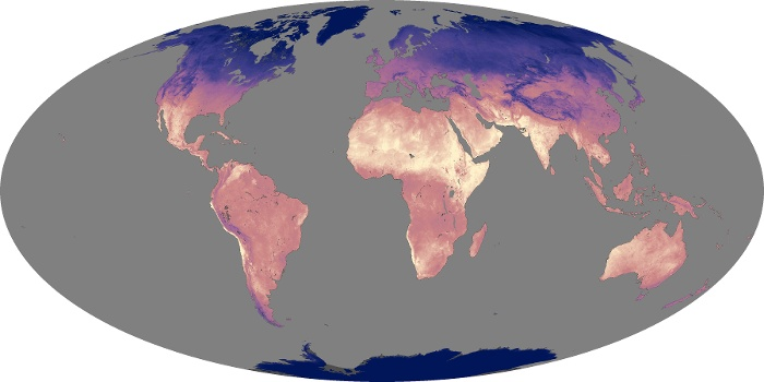 Global Map Land Surface Temperature Image 133