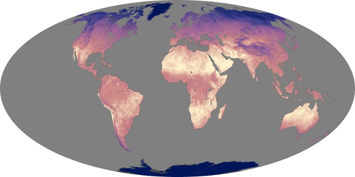 Global Map Land Surface Temperature Image 140