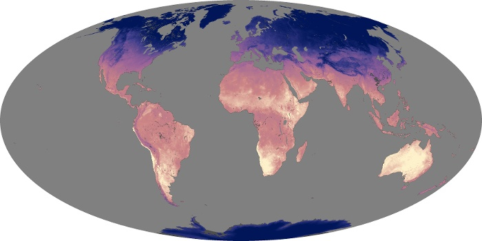 Global Map Land Surface Temperature Image 143