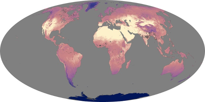 Global Map Land Surface Temperature Image 150