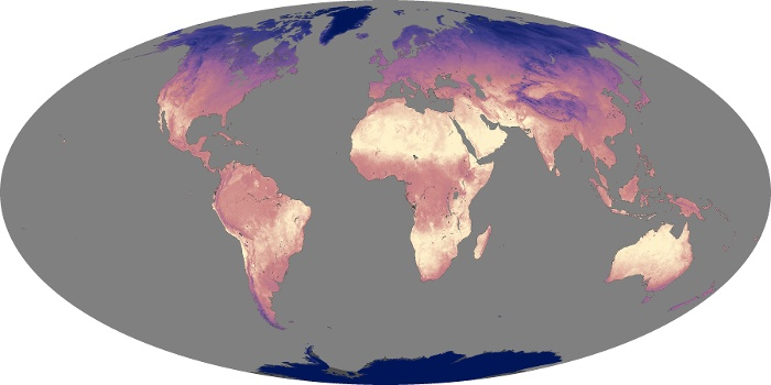 Global Map Land Surface Temperature Image 153