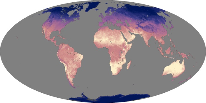 Global Map Land Surface Temperature Image 154