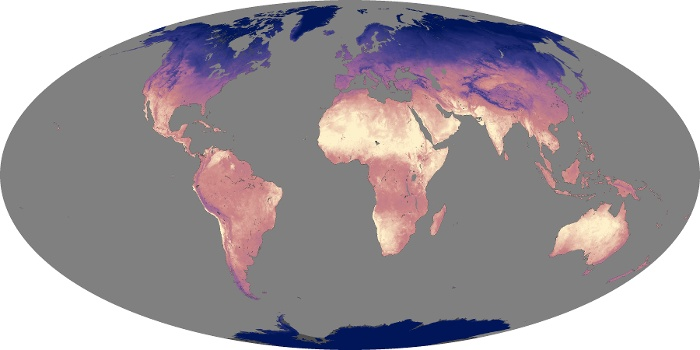 Global Map Land Surface Temperature Image 157