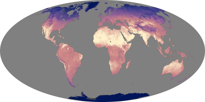 Global Map Land Surface Temperature Image 158