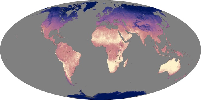 Global Map Land Surface Temperature Image 165