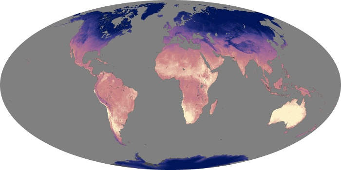 Global Map Land Surface Temperature Image 168