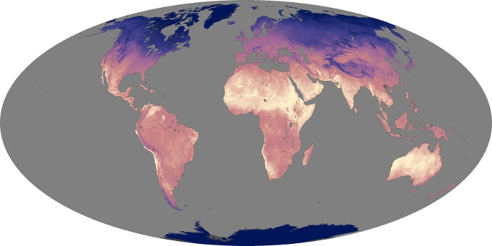 Global Map Land Surface Temperature Image 169