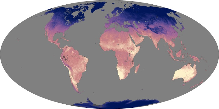 Global Map Land Surface Temperature Image 179