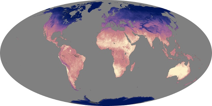 Global Map Land Surface Temperature Image 180
