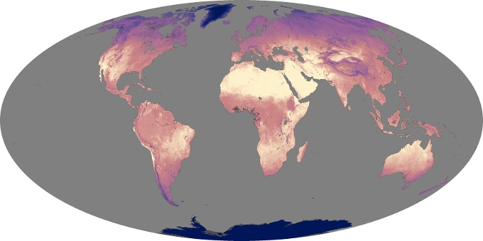 Global Map Land Surface Temperature Image 187