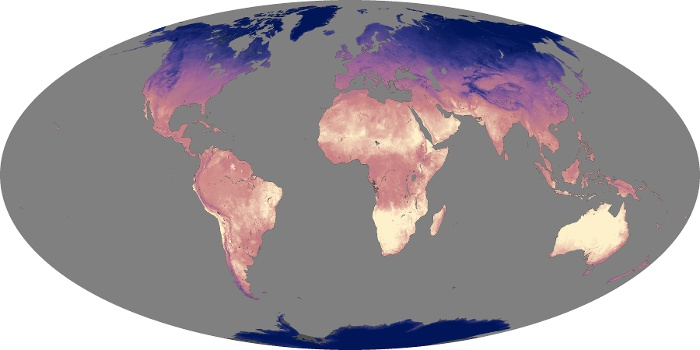 Global Map Land Surface Temperature Image 189
