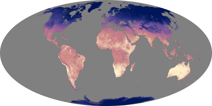 Global Map Land Surface Temperature Image 192