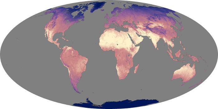 Global Map Land Surface Temperature Image 195