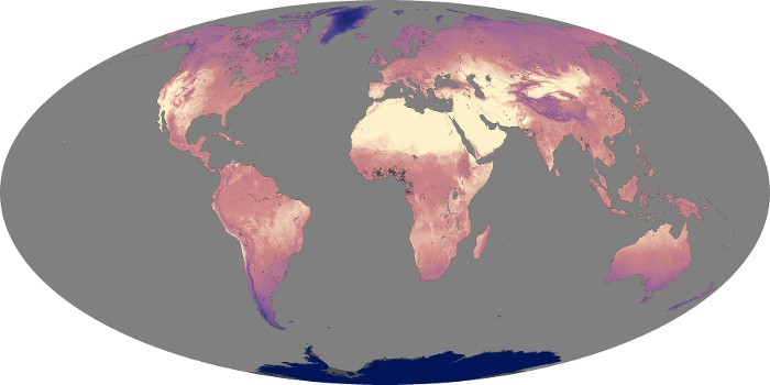 Global Map Land Surface Temperature Image 198
