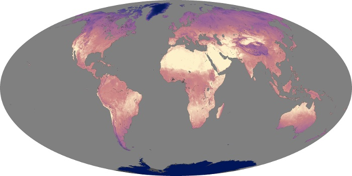Global Map Land Surface Temperature Image 200