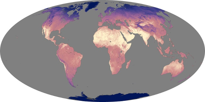Global Map Land Surface Temperature Image 206