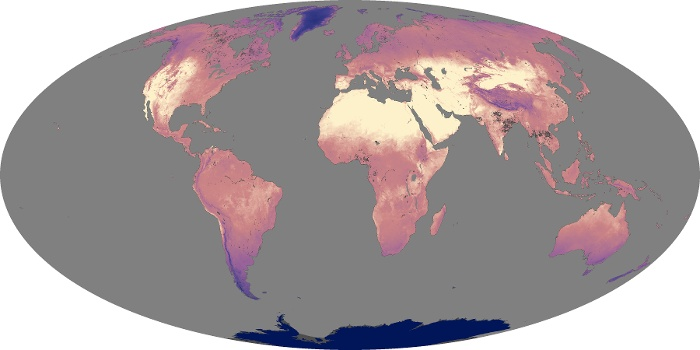 Global Map Land Surface Temperature Image 210