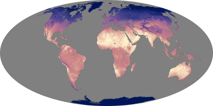 Global Map Land Surface Temperature Image 217