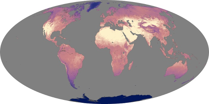Global Map Land Surface Temperature Image 220