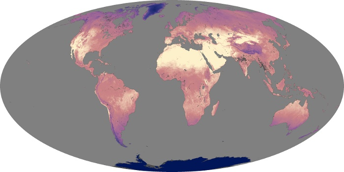 Global Map Land Surface Temperature Image 222