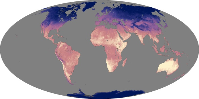Global Map Land Surface Temperature Image 228