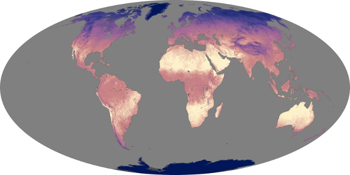 Global Map Land Surface Temperature Image 236