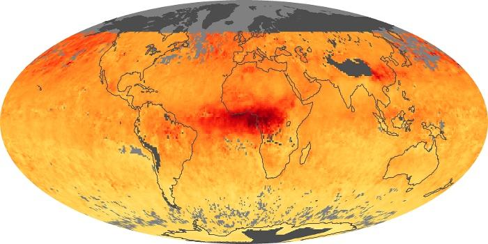 Global Map Carbon Monoxide Image 10