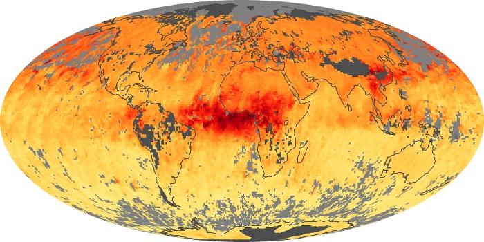 Global Map Carbon Monoxide Image 12