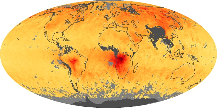 Global Map Carbon Monoxide Image 30