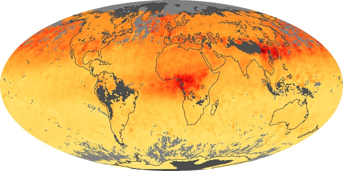 Global Map Carbon Monoxide Image 36