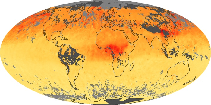 Global Map Carbon Monoxide Image 72