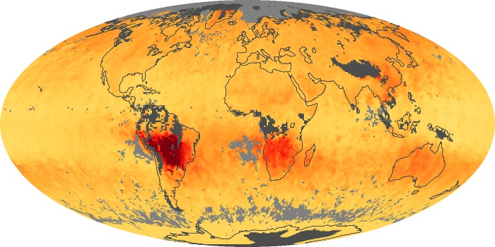 Global Map Carbon Monoxide Image 92