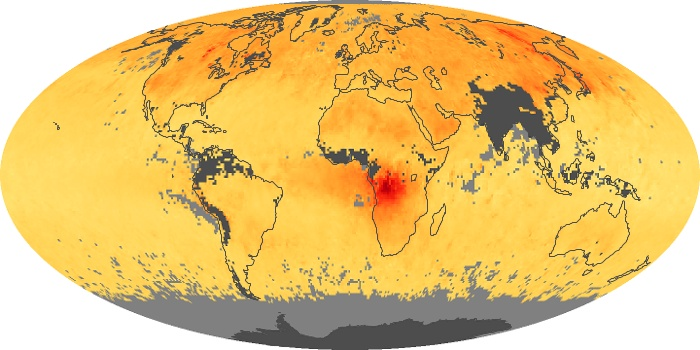 Global Map Carbon Monoxide Image 101