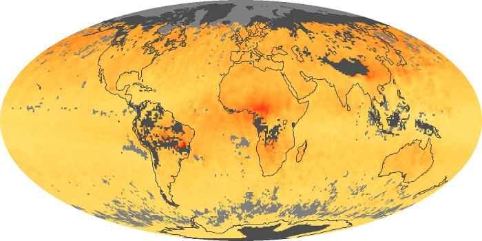 Global Map Carbon Monoxide Image 105