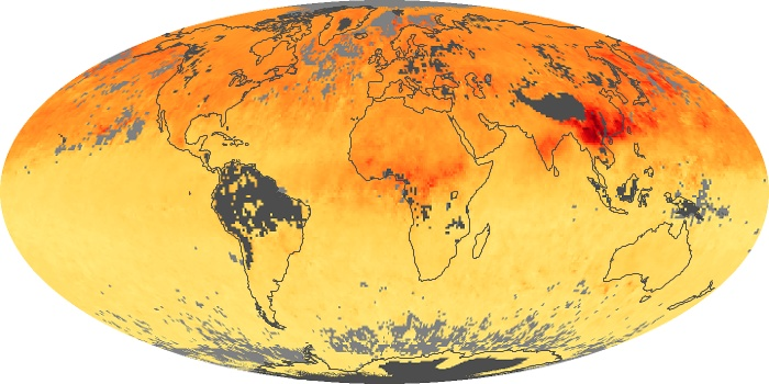 Global Map Carbon Monoxide Image 109