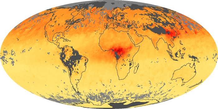 Global Map Carbon Monoxide Image 120