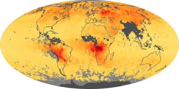 Global Map Carbon Monoxide Image 50