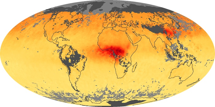 Global Map Carbon Monoxide Image 131