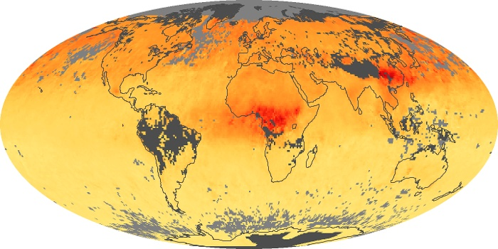 Global Map Carbon Monoxide Image 132