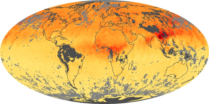 Global Map Carbon Monoxide Image 145